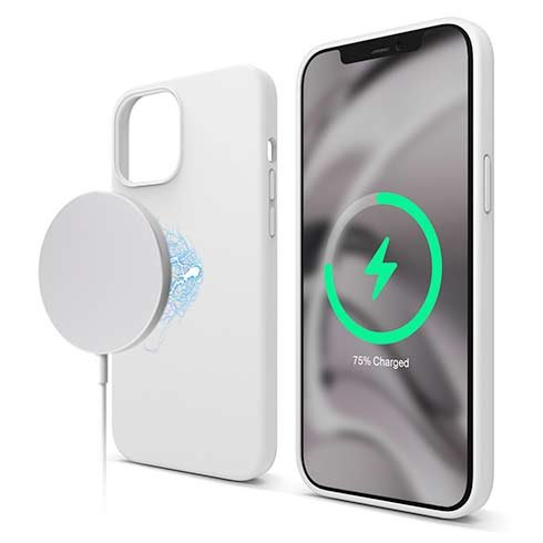 Elago kryt Silicone Case Magsafe pre iPhone 12 Pro Max - White