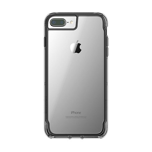 Griffin kryt Survivor Clear pre iPhone 8 Plus - Black Smoke Clear 744a779a737