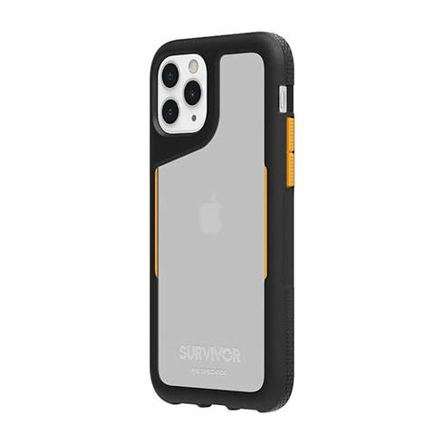 Griffin kryt Survivor Endurance pre iPhone 11 Pro - Black/Citrus/Black