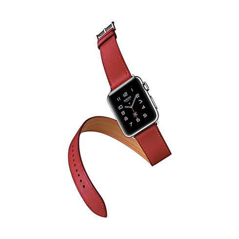 HOCO remienok Mix and Match pre Apple Watch 38/40 mm - Red Leather