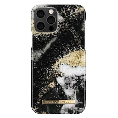 iDeal Fashion Case iPhone 12/12 Pro Black Galaxy Marble