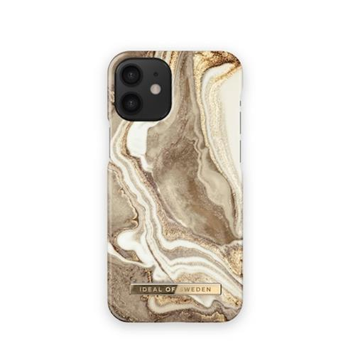 iDeal  Fashion Case iPhone 12 mini Golden Sand Marble