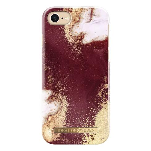 iDeal Fashion Case iPhone 8/7/6/6S/SE Golden Burgundy Marble
