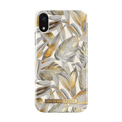 iDeal Fashion Case iPhone XR Platinum Leaves