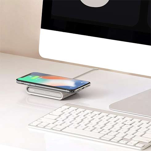 iOttie iON Wireless Fast Charging Pad Mini Qi Certified - Ivory Tan