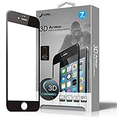 JCPAL Armor 3D Glass Screen Protector ( 0.26mm; Black) for iPhone 7 Plus