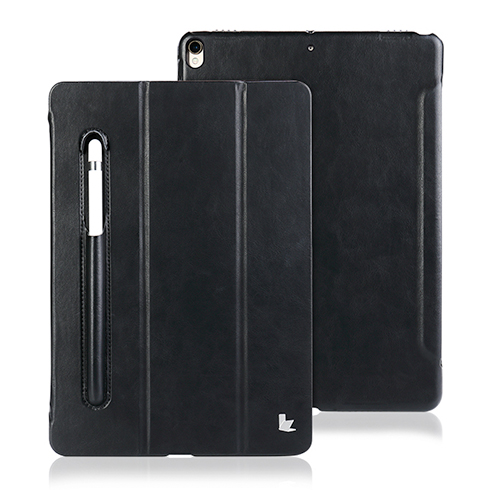 "Jisoncase puzdro Leather with Pen Holder pre iPad 9.7"" 2018 - Black"