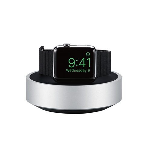 Just Mobile stojan HoverDock pre Apple Watch - Silver Aluminium