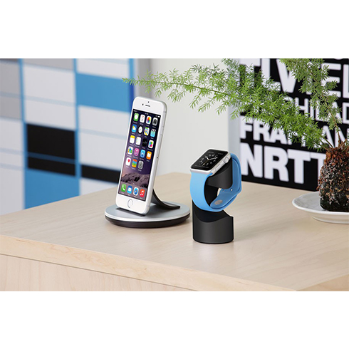 Just Mobile stojan TimeStand pre Apple Watch - Black Aluminium