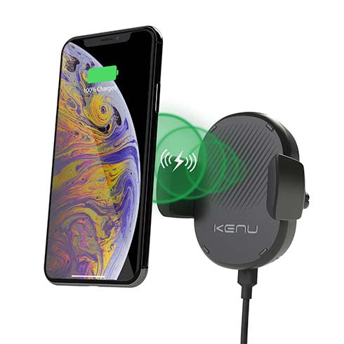 Kenu Airframe Qi Wireless Fast-Charging Vent Mount - Black