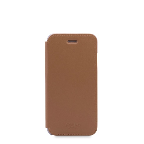 Knomo puzdro Leather Folio pre iPhone 7/8 - Caramel