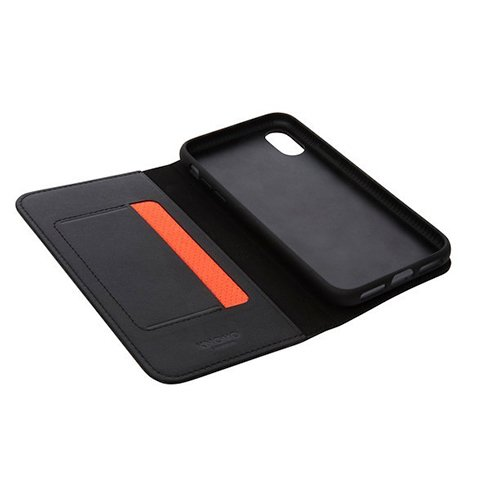 Knomo puzdro Leather Folio pre iPhone X/XS - Black