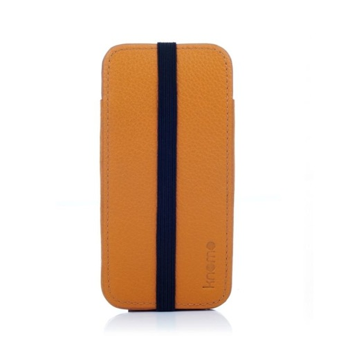 Knomo puzdro Leather sleeve pre iPhone 5/5s/SE - Burnt Ochre