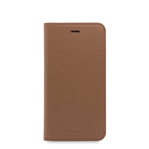 Knomo puzdro Premium Leather Folio pre iPhone 7 Plus/8 Plus - Caramel