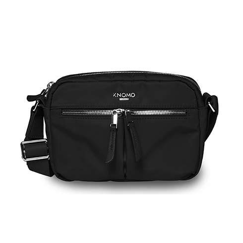 Knomo taška Avery Cross-Body - Black/Silver Hardware