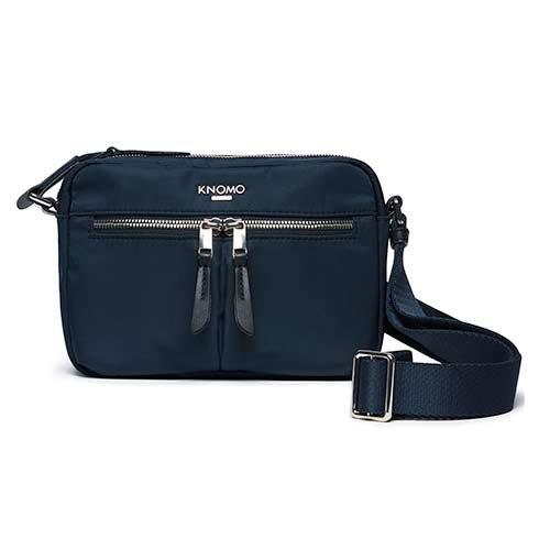 Knomo taška Avery Cross-Body - Navy Blue Blazer/Silver Hardware