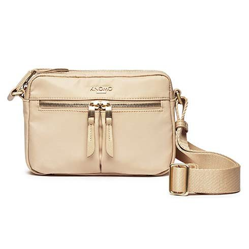 Knomo taška Avery Cross-Body - Trench Beige/Gold Hardware