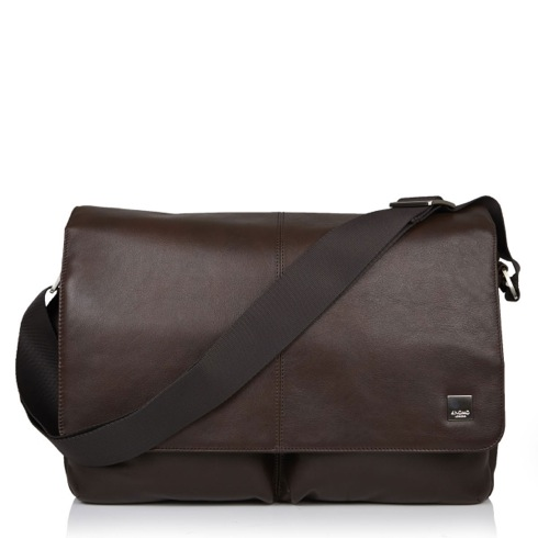 "Knomo taška Kobe Soft Messenger pre 15"" laptop - Brown"