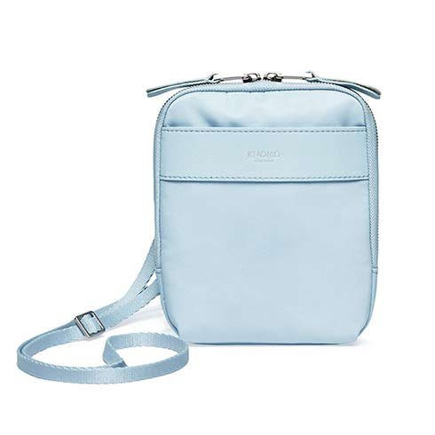 Knomo taška Rex Cross-Body - Poplin Blue/Silver Hardware