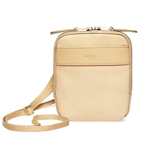 Knomo taška Rex Cross-Body - Trench Beige/Gold Hardware