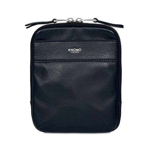 Knomo taška Rex Leather Cross-Body - Dark Navy Blazer/Silver Hardware