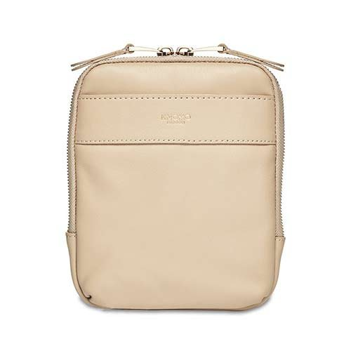 Knomo taška Rex Leather Cross-Body - Trench Beige/Gold Hardware
