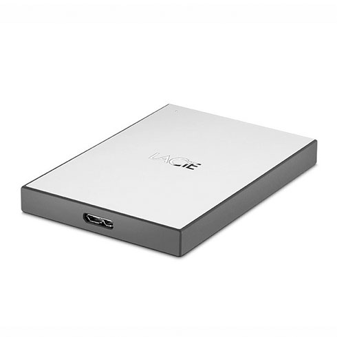 "LaCie ext. HDD 1TB Mobile Drive 2.5"" USB 3.0 - Silver"
