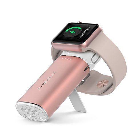 MiPow Power Tube 6000 pre Apple Watch/iPhone - Rose Gold