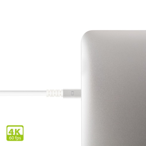 Moshi kábel Mini DisplayPort to DisplayPort 1.5m 4K 60fps - White