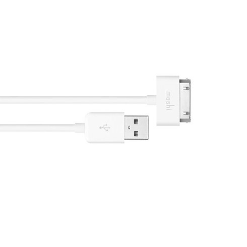 Moshi kábel USB to 30-pin connector 0,9m - White