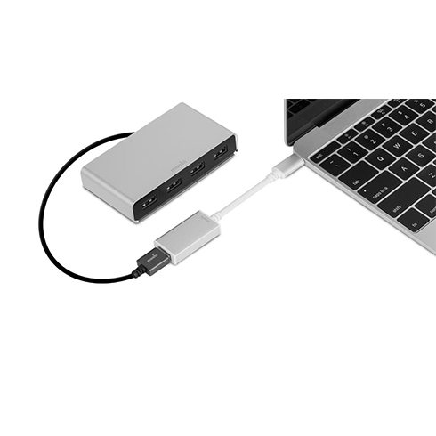 Moshi USB-C to USB Adapter - Silver Aluminium
