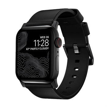 Nomad kožený remienok pre Apple Watch 42/44 mm - Modern Black/Black Hardware
