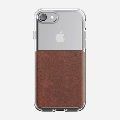 Nomad kryt Clear Case pre iPhone 7/8 - Rustic Brown