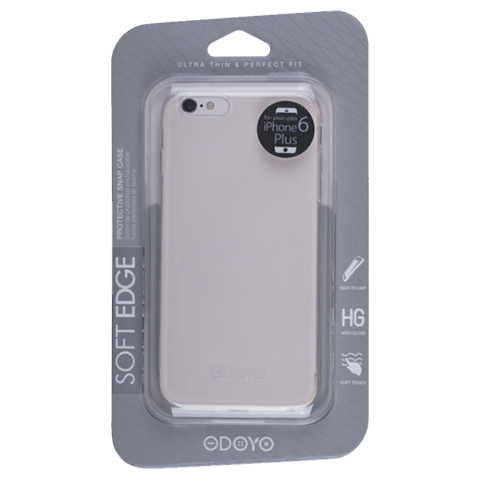 Odoyo kryt Soft Edge pre iPhone 6/6s - Jelly Clear
