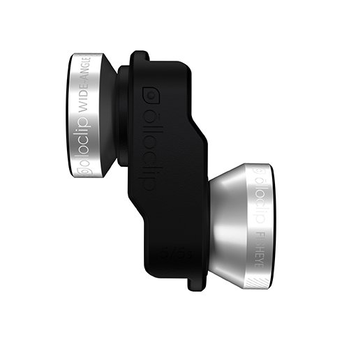 Olloclip 4-in-1 Lens System for iPhone 5/5S/SE - Silver Lens/Black Clip