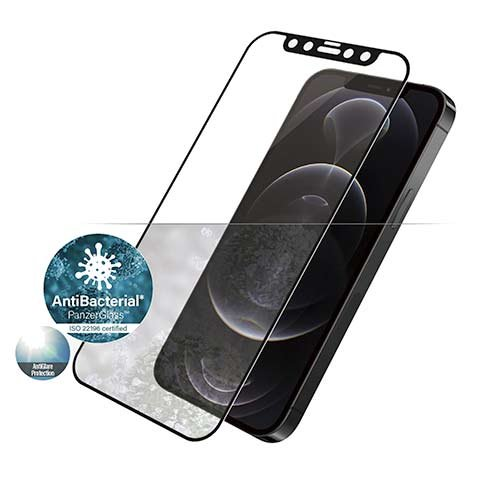 PanzerGlass ochranné sklo Friendly Case Anti-Glare pre iPhone 12/12 Pro - Black Frame
