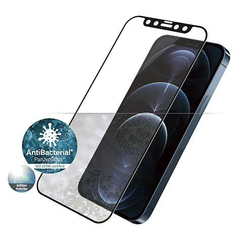 PanzerGlass ochranné sklo Friendly Case Anti-Glare pre iPhone 12 Pro Max - Black Frame
