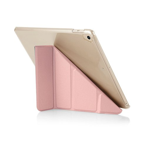 Pipetto puzdro Origami Case pre iPad 9.7 2017/2018 - Rose Gold/Clear