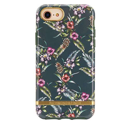 Richmond & Finch kryt Emerald Blossom pre iPhone 6/7/8/SE 2020 - Gold Details