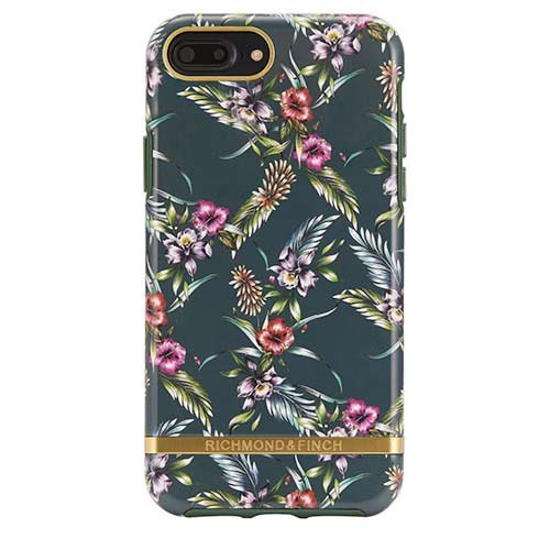 Richmond & Finch kryt Emerald Blossom pre iPhone 7 Plus/8 Plus - Gold Details