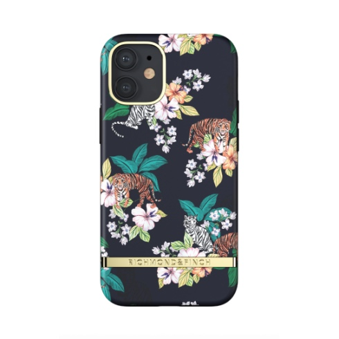 Richmond & Finch kryt Floral Tiger pre iPhone 12 mini - Gold Details