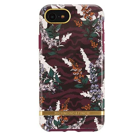 Richmond & Finch kryt Floral Zebra pre iPhone 6/7/8/SE 2020 - Gold Details