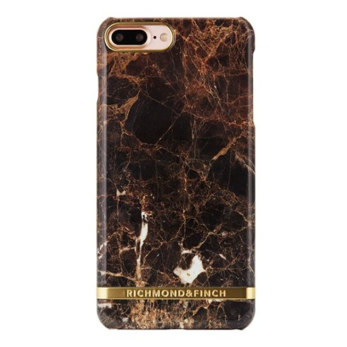 Richmond & Finch kryt Marble pre iPhone 7 Plus - Brown