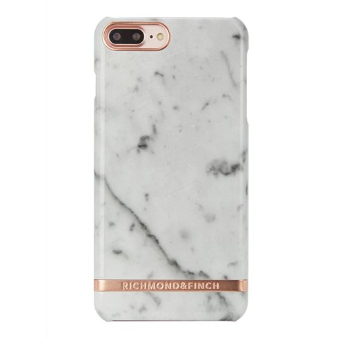 Richmond & Finch kryt Marble pre iPhone 7 Plus - White/Rosé