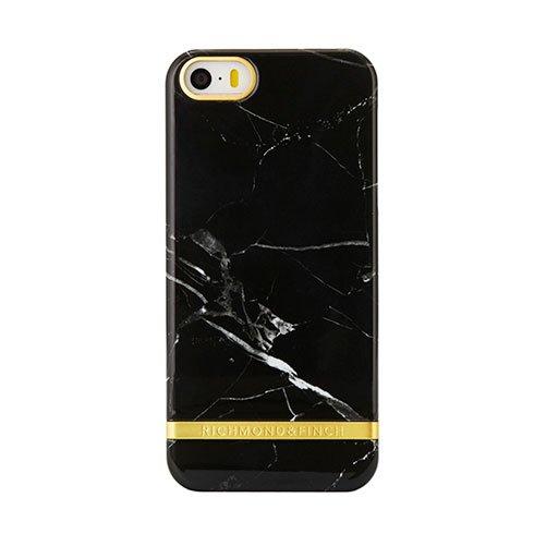 Richmond   Finch kryt Marble pre iPhone SE - Black Gold Details 3d699d92779