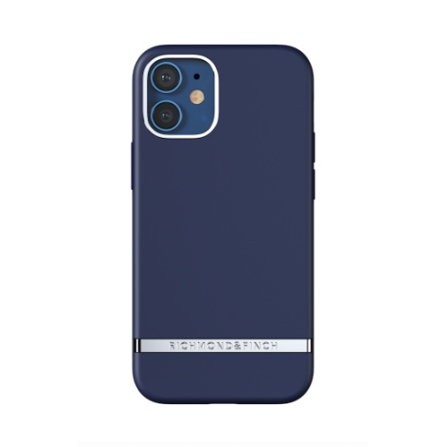 Richmond & Finch kryt Navy pre iPhone 12 mini - Silver Details