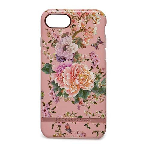 Richmond & Finch kryt Peonies & Butterflies pre iPhone 6/7/8/SE 2020 - Rose Gold Details