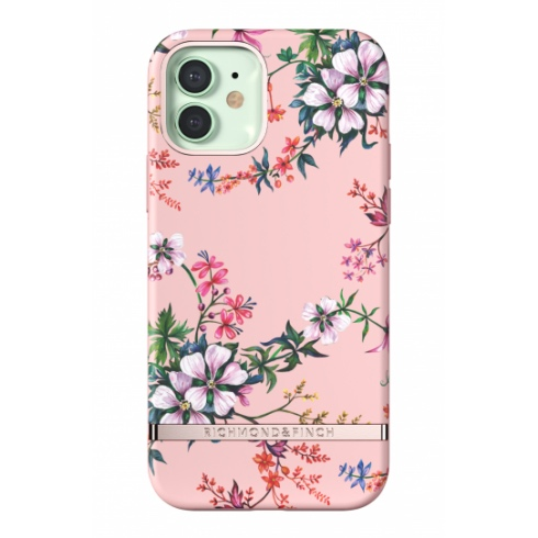 Richmond & Finch kryt Pink Blooms pre iPhone 12/12 Pro - Rose Gold Details