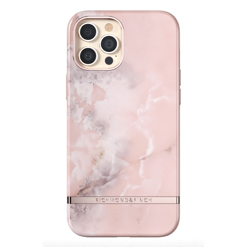 Richmond & Finch kryt Pink Marble pre iPhone 12 Pro Max - Rose Gold Details