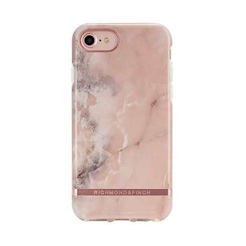 Richmond & Finch kryt Pink Marble pre iPhone 6/7/8/SE 2020 - Rose Gold Details